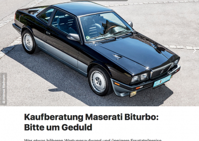 auto revue: Kaufberatung Maserati Biturbo
