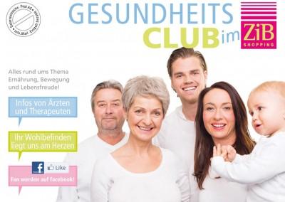 Prossinger Werbeagentur für Gesundheitsclub im ZiB: Corporate Design, Text, Grafik und Printproduktion