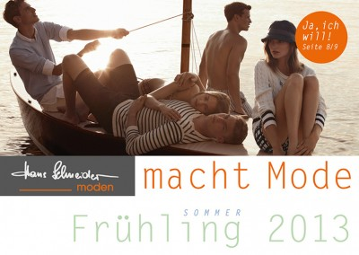 Prossinger Werbeagentur für Hans Schneider Moden: Text, Grafik, Werbeberatung