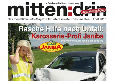 Prossinger Werbeagentur für Karosserie- und Lackierfach- betrieb Janiba: Text, Konzept, Werbung und Public Relations