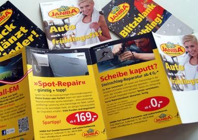 Prossinger Werbeagentur für Karosserie- und Lackierfachbetrieb Janiba: Text, Konzept, Werbung und Public Relations