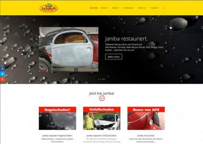 Prossinger Werbeagentur für Karosserie- und Lackierfachbetrieb Janiba: Web responsive