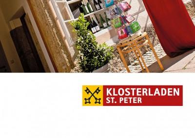 Prossinger Werbeagentur für Verlag St. Peter und Klosterladen St. Peter: Text, Grafik und Public Relations
