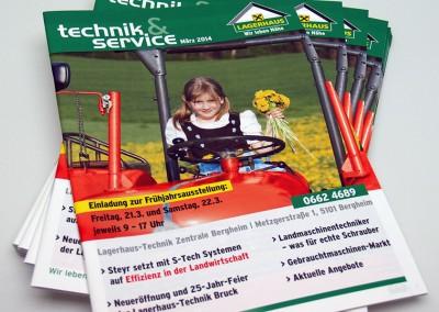 Prossinger Werbeagentur für Lagerhaus: Text, Redaktion, Entwicklung (Technik&Service)