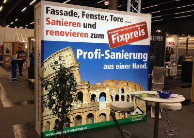 Prossinger Werbeagentur für Lagerhaus: Text, Grafik und Produktion (Messestand auf der Messe »Bauen und Wohnen«)