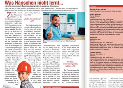Prossinger Werbeagentur: Artikel für Mitten:drin – Text zum Nachlesen unter »Neues«
