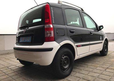 Prossinger Werbeagentur fotografiert: Fotostrecke Fiat Panda 169 Alessi schwarz-weiß