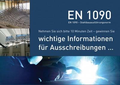 Prossinger Werbeagentur für Ziegler Stahlbau: Mailings, Text, Grafik und Public Relations zum Thema »EN1090«-Zertifizierung