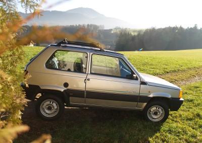 Prossinger Werbeagentur fotografiert: Fotostrecke Fiat Panda »Landbär«